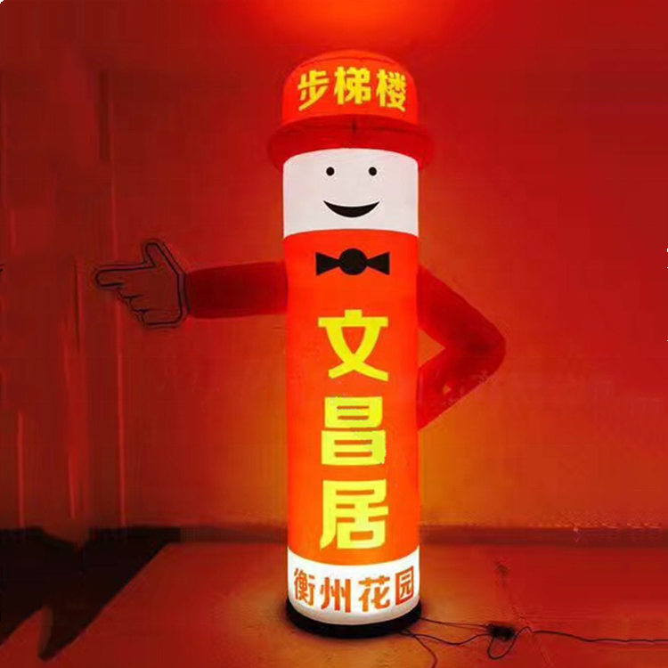 Best quality low prices Led columns advertising inflatable columns sale