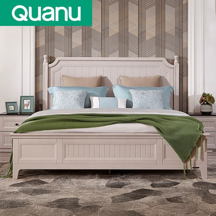New Design Bedroom Furniture King Queen Size Modern Double Bed