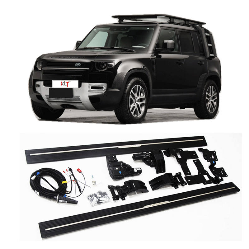 klt-Aluminum Electric Side Step Waterproof motor Electric automatic Running Board Power Step for Land rover defender 110 2020+
