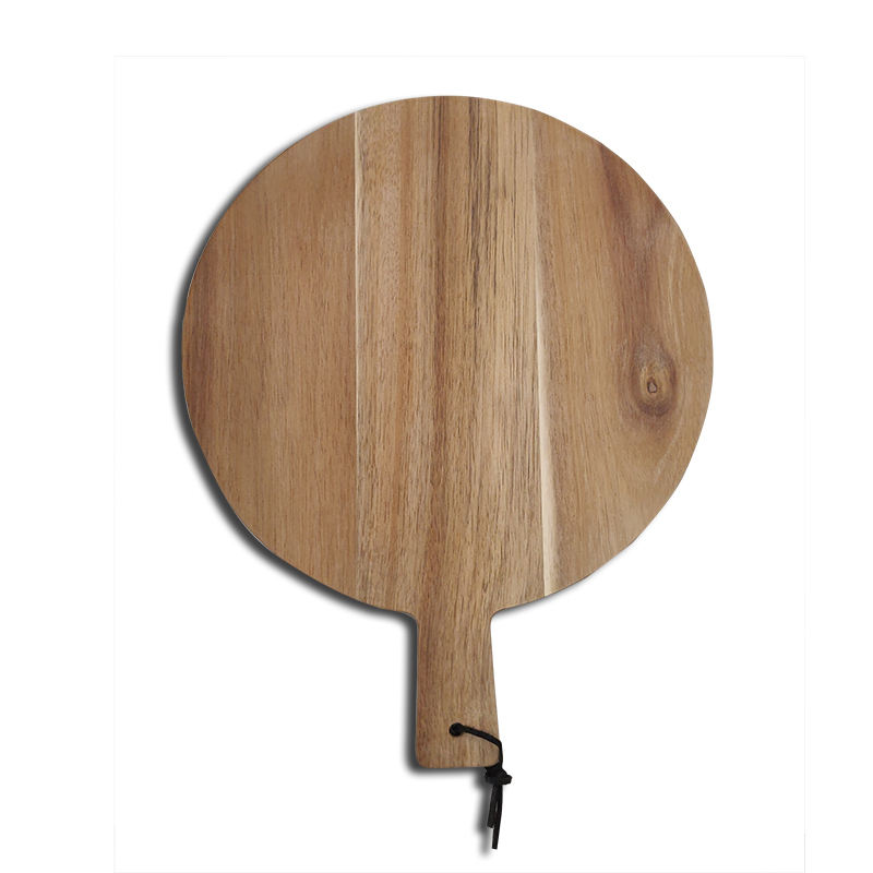 12 inch Acacia Wood Round Pizza Board Wooden Cutting Board For Pizza Serving Chopping Board