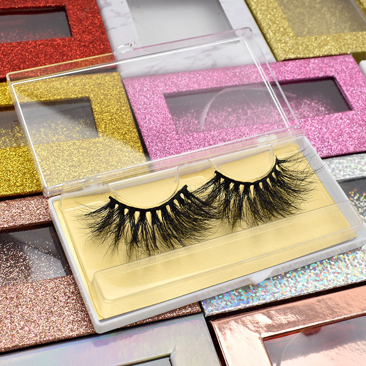LashDoll mink eyelashes vendor hot selling 5d 25mm mink eyelashes with custom package box