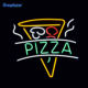 Manufacturer custom small Portable Decorative led pizza neon signs