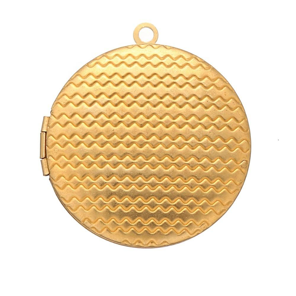High Quality Copper Brass Material Round Floating Photo Locket Manufacturer