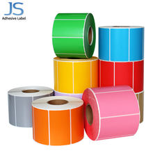 70mm*50mm Horiztontal Color Coated Adhesive Label