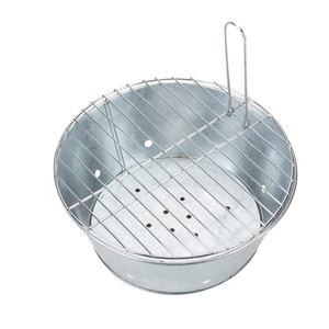 Multi Purpose Party Metal Portable Bucket BBQ Grill BBQ Bucket for Travels Picnics Parties
