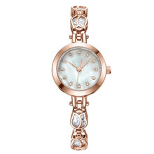 New fashion rose gold oem waterproof wrist watches custom cheap women quartz watches