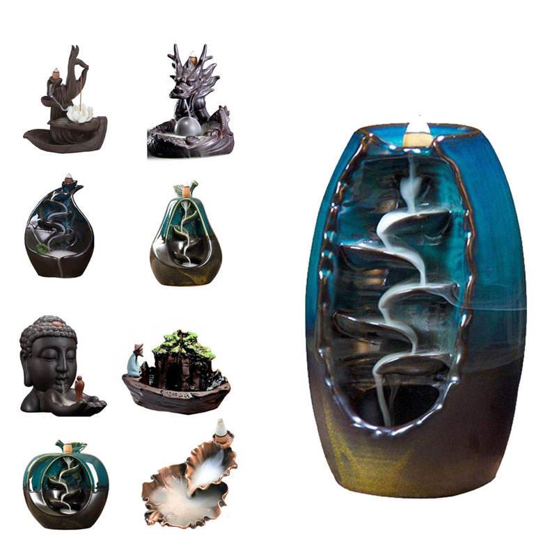 Muestra gratis de incienso de cerámica titular <span class=keywords><strong>polyresin</strong></span> quemador de incienso al por mayor reflujo incienso