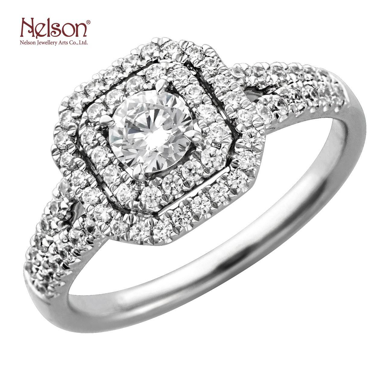 Nelson Jewellery 18K White Gold Anniversary Diamond Ring Micro Tiger Prong Set Wedding Jewellery Diamond Ring Mount