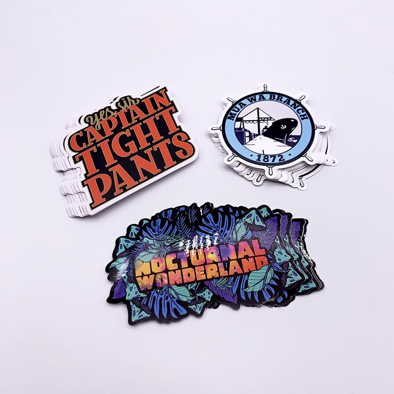 Wholesale Custom Logo Designs PVC Vinyl Promotional Bumper Stickers Printing