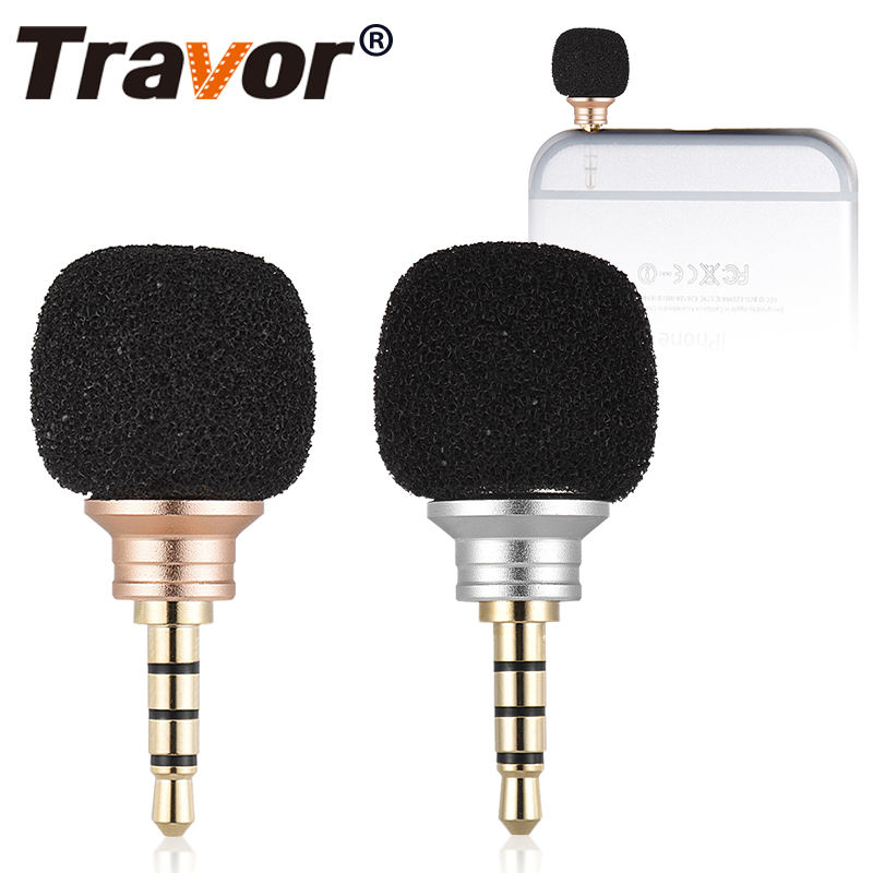 Travor Omni-Directiona portable mini wireless microphone for smart mobile phone 3.5mm jack