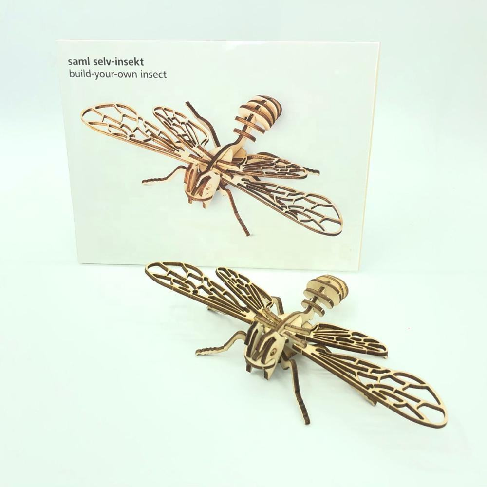 Build-your-own 3d puzzles insects