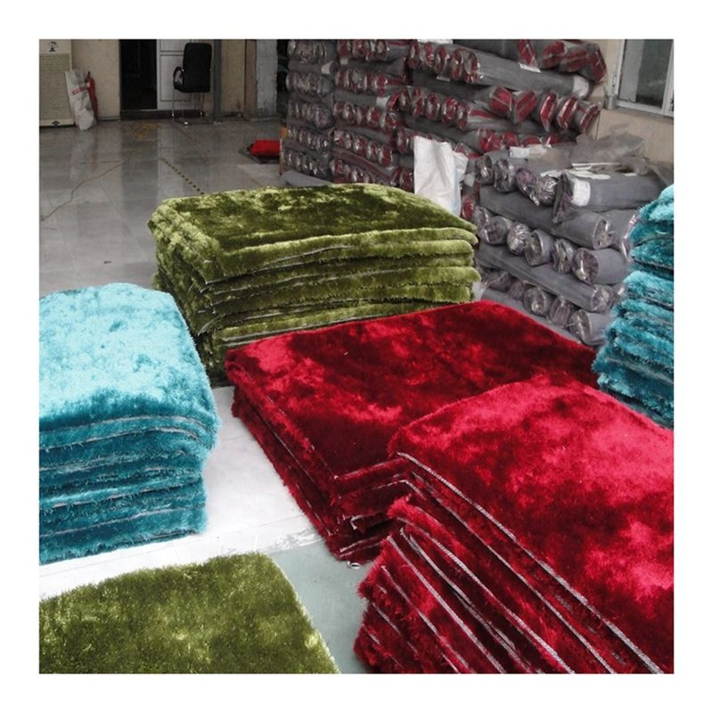 4cm /6cm polyester silk shiny shaggy rugs carpets shag rug carpet