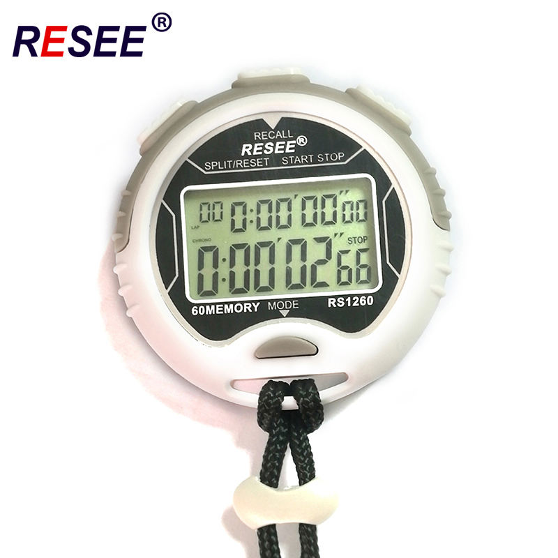 60 ronden herinneringen twee rijen Digitale display sport stopwatch