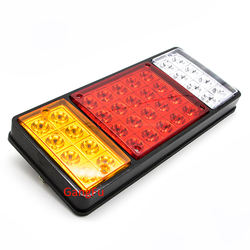 12v 24v 36LED Red Amber White LED truck trailer tail light
