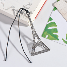 Hot Sale Ancient Building Eiffel Tower Hollow Bookmark Stainless Steel Bookmark Metal Bookmarks