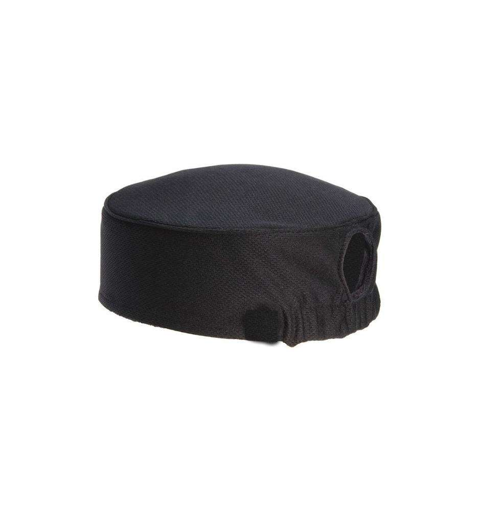 Total Vent Womens Black Beanie chef hats