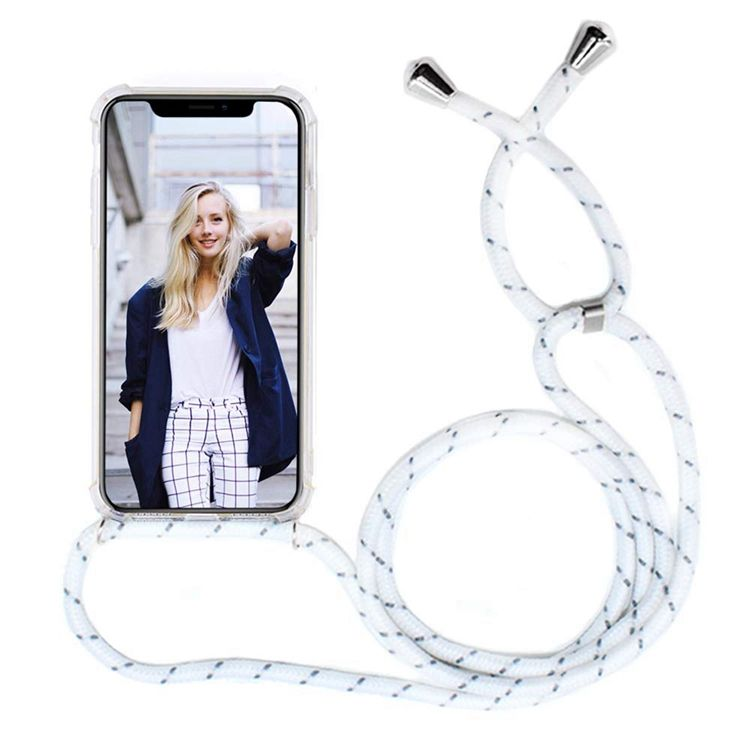 XINGE Anti Shock Transparent Tpu Phone Case With Rope Lanyard For Apple Iphone 11 Case Strap
