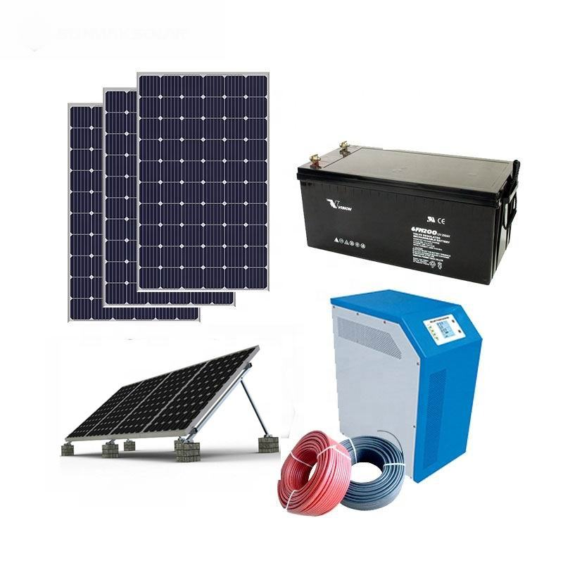Complete unit 50KW 30kw 20kw off grid solar system,mini 4kw 5kva 5KW solar system home cheap price,1000kw 1mw solar system
