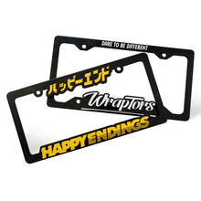 USA & CANADA Size Custom Plastic Car License Plate Frame Car Number Plate Frame