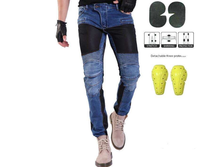 Motocross Pants Manufacturer Protector Pockets Knee Straight Fit Motorcycle Jeans Pants