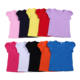 Solid Girls Tee shirts many colors short sleeve top for little girls cap sleeve t-shirts 100% cotton kids clothing
