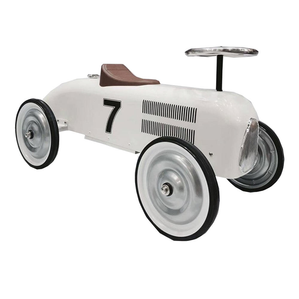 pobby car classic metal children's walker four-wheel skating car background props