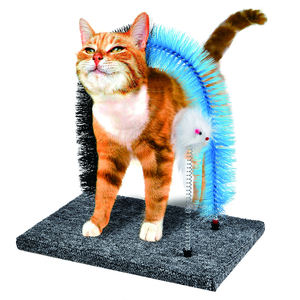 Cat Scratcher And Grooming Arch with Gentle Fur Brushing Cats Self Groomer and Massager
