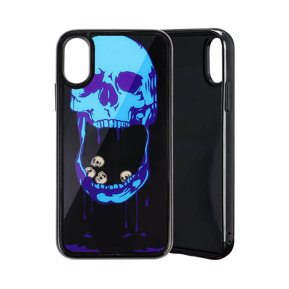Bubble Blue Skull Mobile Cell Phone Shell Cases Back Cover