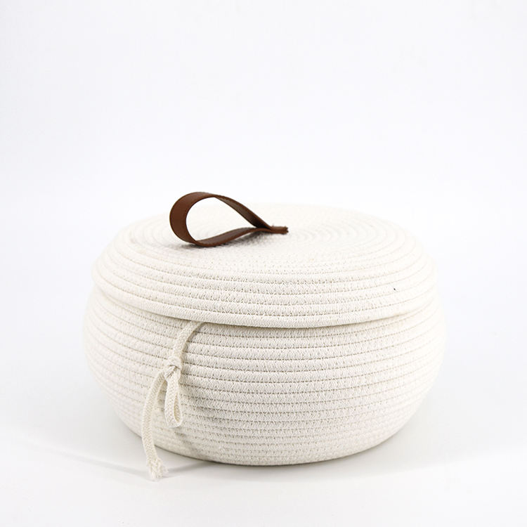 Promotional Handmade Cotton Rope Fruit Storage Basket