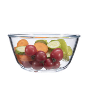 Wholesale customized borosilicate microwavable bowls salad bowl set of glass bowl with lid
