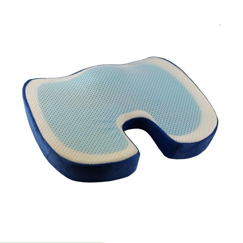 u shape silicone memory foam adult extra comfort wheel chair office bus orthopedic coccyx cooling gel seat cushion