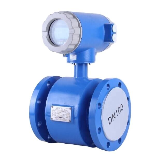 220VAC Power Supply Industrial Wastewater Electromagnetic Flowmeter Magnetic Saline Flow Meter