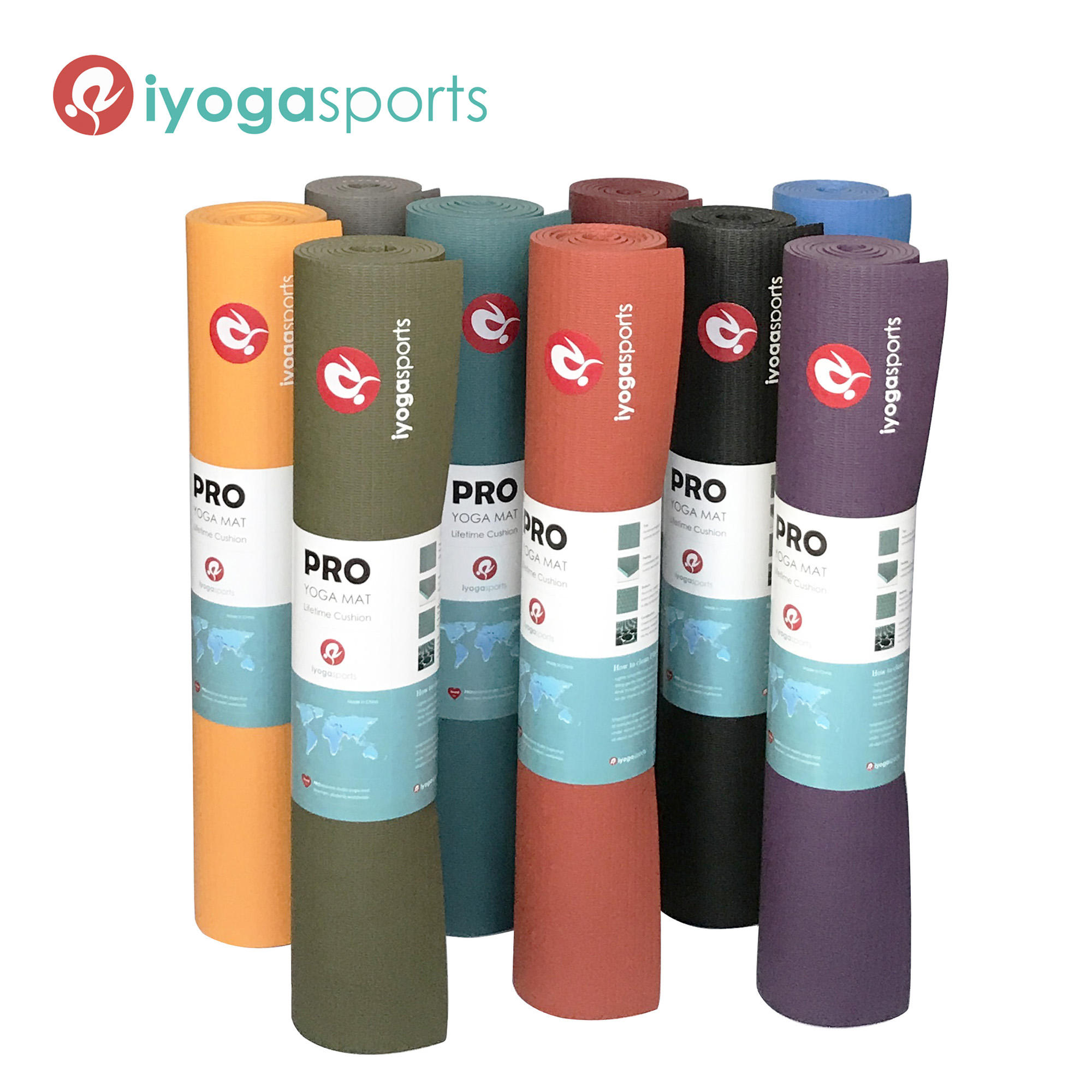 5mm thick manduka PRO light yoga mat high density studio mat firm and eco friendly closed cell mat PRO style