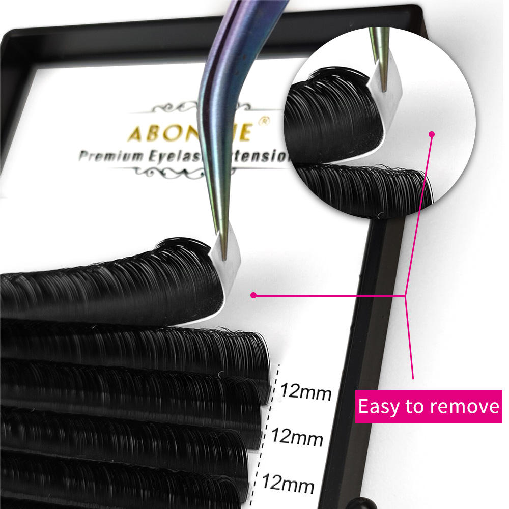 Abonnie OEM lash trays top seller 12rows 0.030.05 0.07 mm CD volume easy fanning eyelash extensions