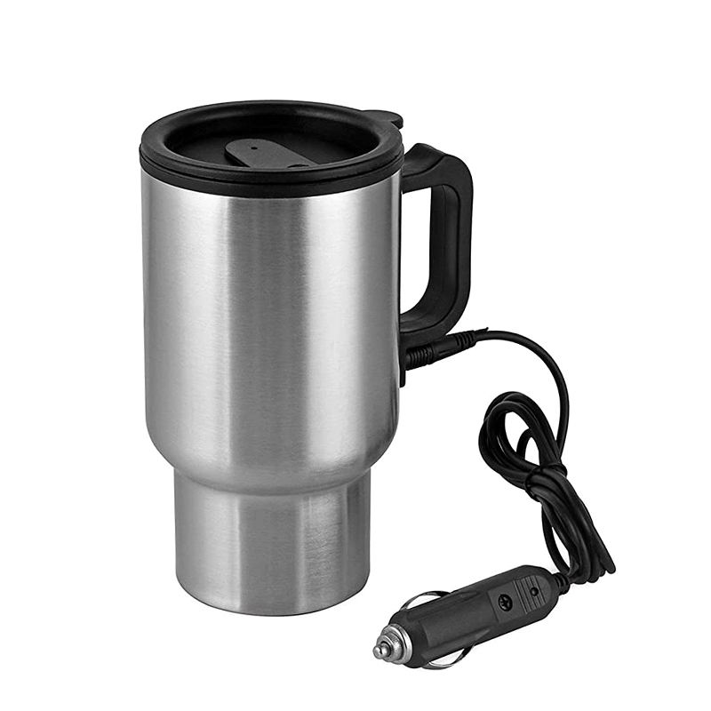 Heated Coffee Car Electric Mug Usb Double Wall Stainless Steel 12v Travel Coffee Mugs with Lid Eco-friendly CE / EU Stocked LFGB