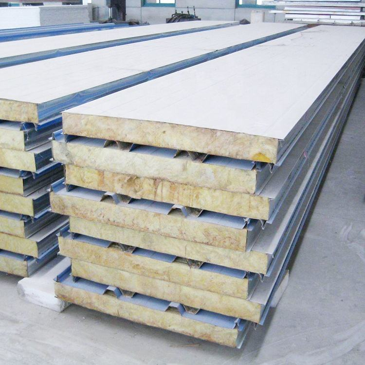 Panneling mineral rockwool insulated sandwich panel with PPGI,PPGL surface