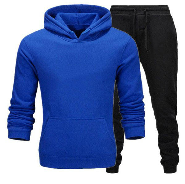 2019 Men's cotton fleece Gym tracksuit