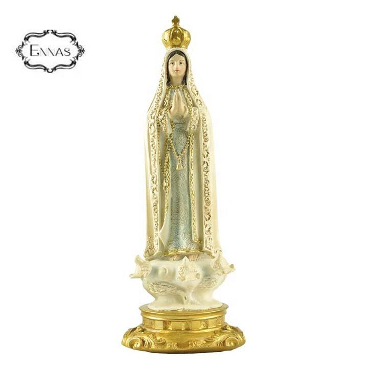 Resin Crafts Religious Figurine Buddha Statues Our Lady Of Fatima For Table Decoration