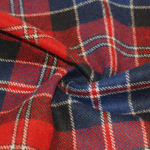 Red tartan plaid man coat cloth wool suit fabric for coats