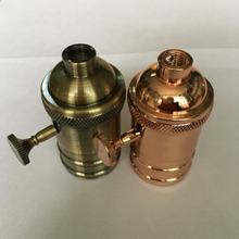 China supplier Copper Contact brass Silver Black Golden e27 socket base bulb holder lampholder for lighting