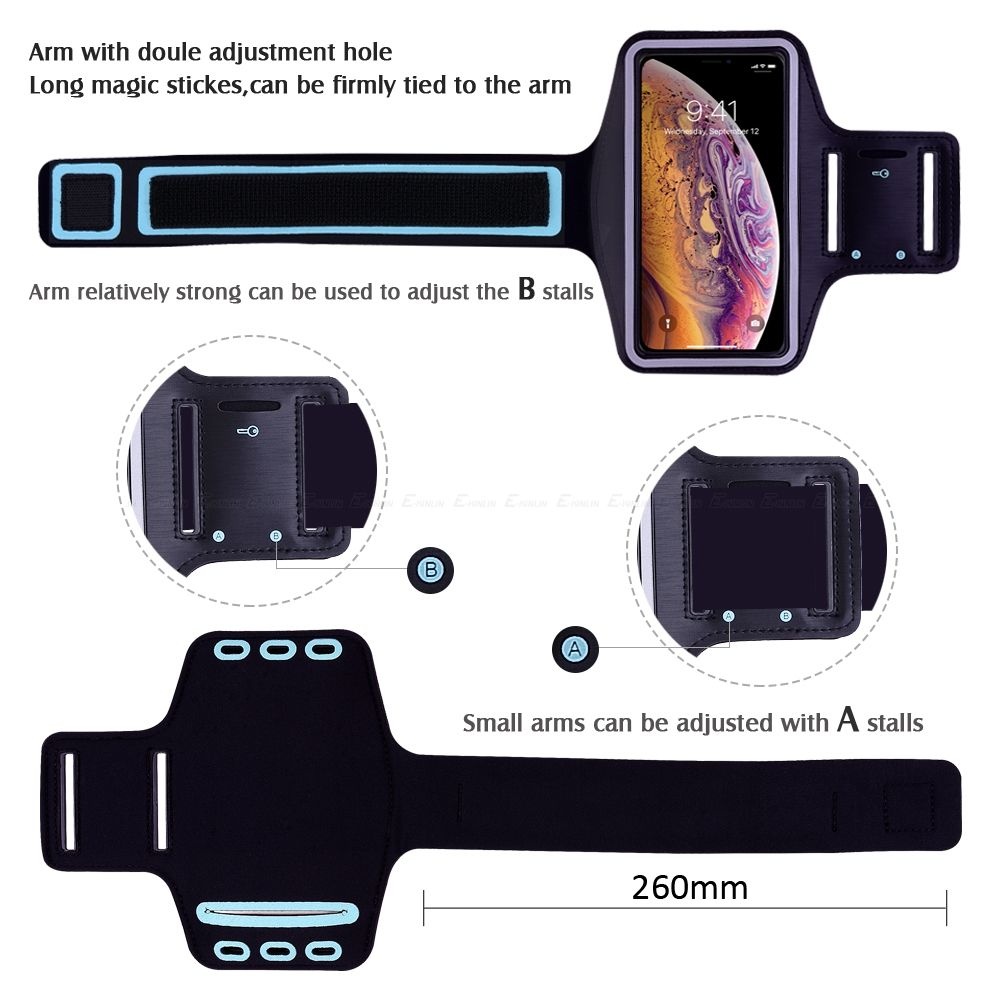 Waterproof Sports Running Workout Gym Arm Band Case For iPhone XS Max XR X 10 8 7 6 6S Plus SE 5 5S 4 4S Pouch Belt Cover Bag
