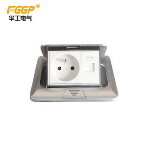 Normal/Soft square floor mounted french type pop-up waterproof socket outlet