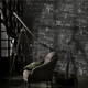 American retro cement graffiti design pvc mural wallpaper for interior wall