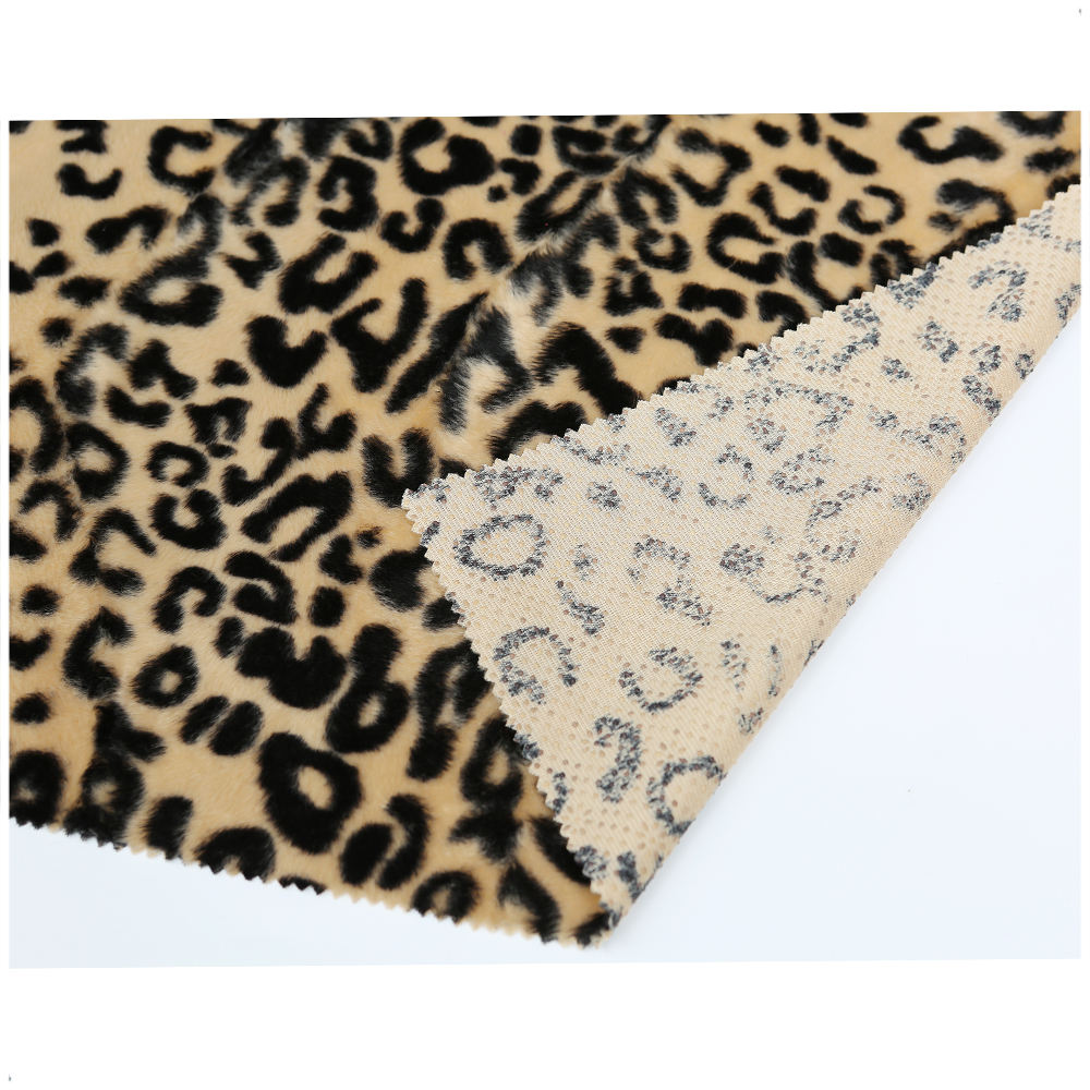 Chinese manufacture 100% polyester animal print velvet fabric for pet products