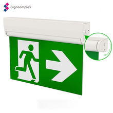 Rechargeable Led  Wall Mounted Fire Safety Single Or Double Face  Resistant Emergency  Light Exit Sign