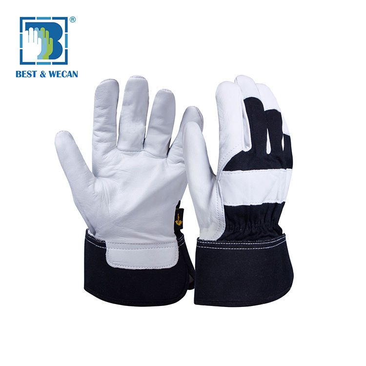 Reinforced Palm Rigger Cow Split Leather Work Leather Winter Gloves, Leather Gloves Men Winter, Leather Winter Work Gloves