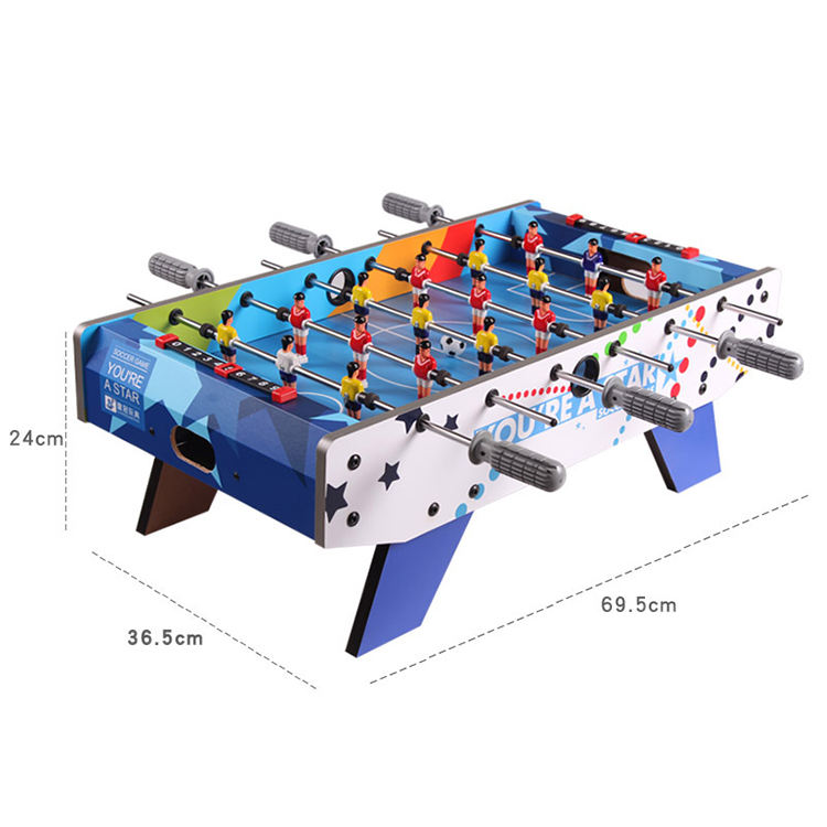 Factory Price 2 Players Mini Football Soccer Table Game With Coins Soccer Table For Sale