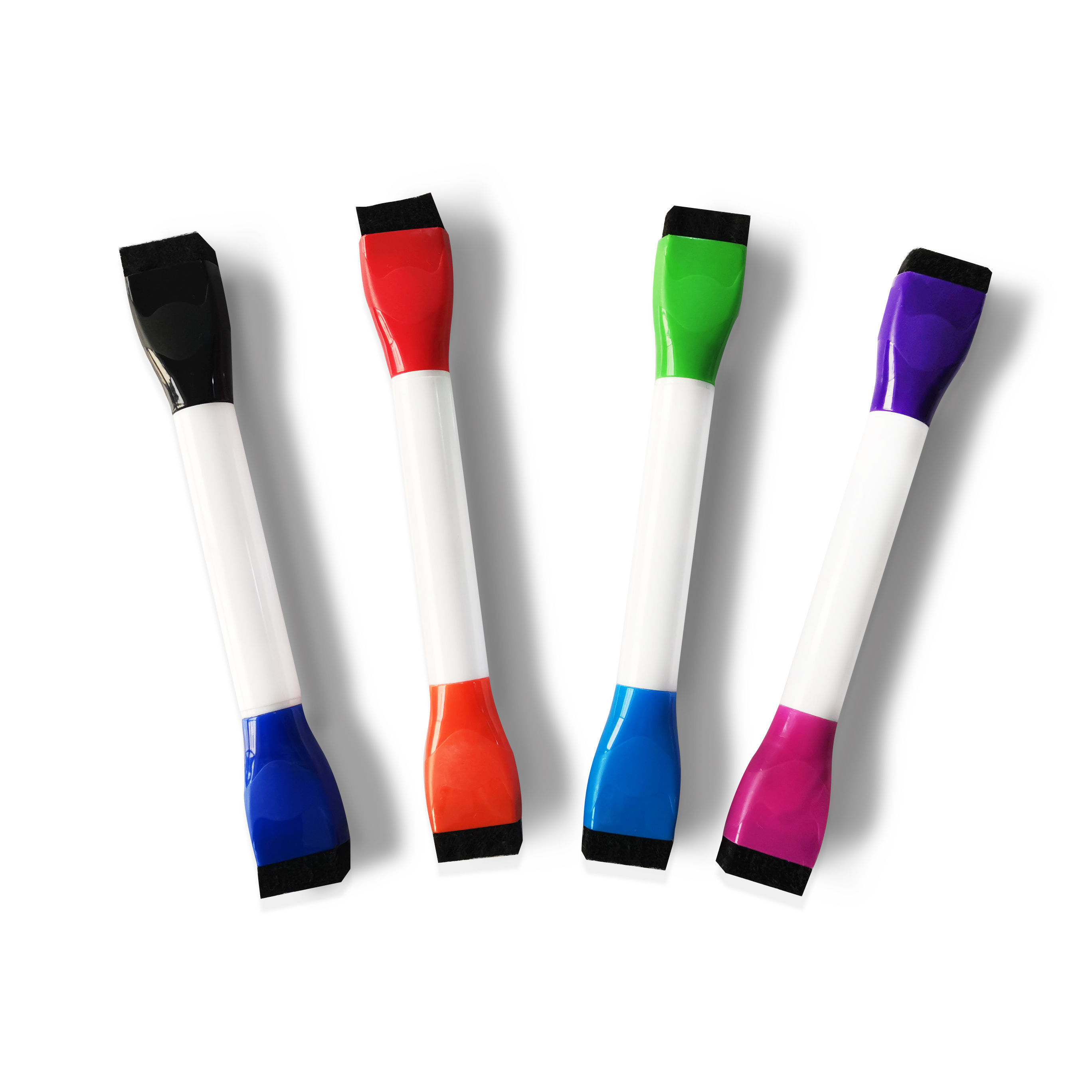 Double-Sided Magnetic Dry Erase Markers Assorted Colors