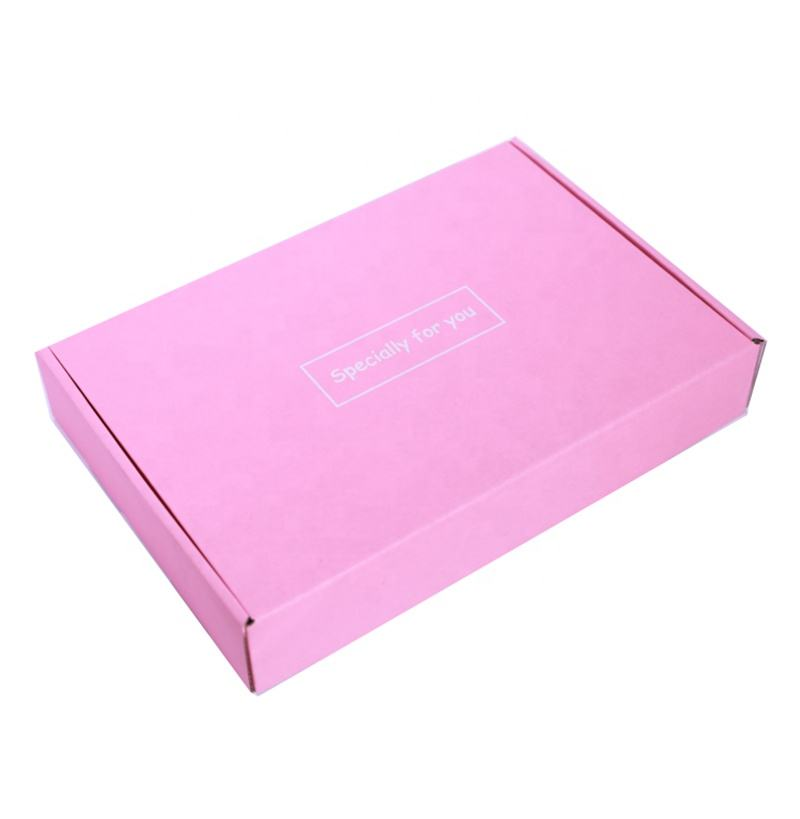 Shoes packaging box plain pink paper gift box