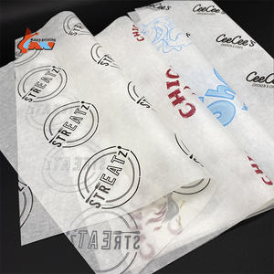 Food Grade Custom Logo Gedrukt Wax Papieren Grease Proof Sandwich Papier